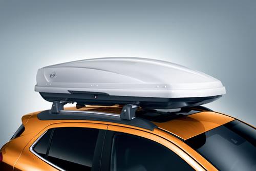 Bild eines Fahrzeugs mit Dachbox